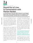 Urbanomic Document 003: Sound Out of Line: In Conversation with Florian Hecker