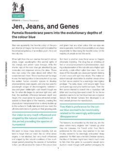 Jen, Jeans, and Genes