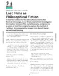 Urbanomic Document 018: Lost Films as Philosophical Fiction