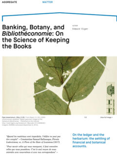 Cover art for Banking, Botany, and Bibliothéconomie: On the Science of Keeping the Books