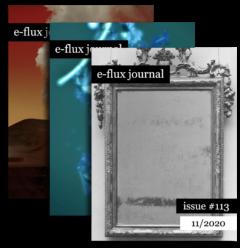 Cover art for e-flux journal