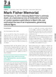 Urbanomic Document 024: Mark Fisher Memorial