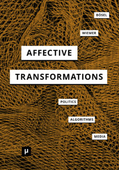 Cover art for Affective Transformations: Politics, Algorithms, Media