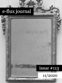 Cover art for e-flux Journal #113