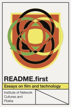 Cover art for README.first: Essays on Film and Technology