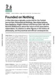 Founded on Nothing: An Interview with Quentin Meillassoux
