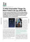 To Wish Impossible Things: On Mark Fisher's Ab-joy (After All)